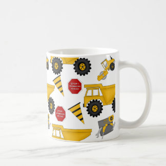 Construction Vehicles, Fun 11 oz Classic White Mug