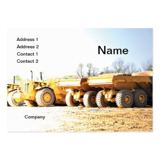 construction vehicles pack of chubby business cards