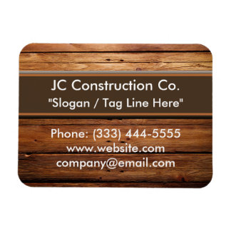 Construction Wood Grain Magnets