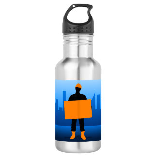 Construction Worker 532 Ml Water Bottle