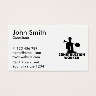 Construction worker business card
