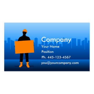 Construction Worker Business Cards