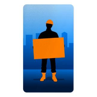 Construction Worker Business Card Template
