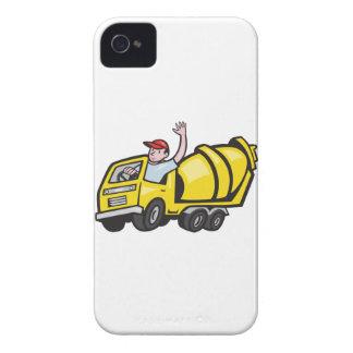 Construction Worker Driver Cement Mixer Truck iPhone 4 Case