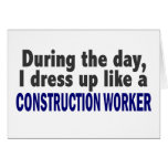 Construction Worker During The Day Cards