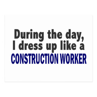 Construction Worker During The Day Post Cards