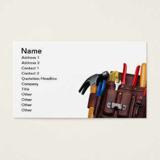 Construction Worker, Handy Man Business Card