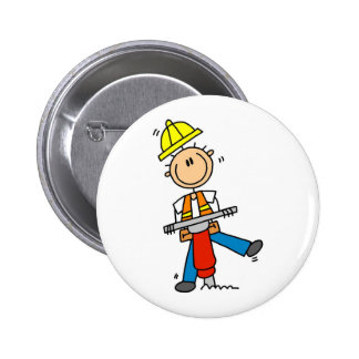 Construction Worker I Build T-shirts and Gifts Buttons