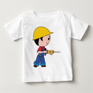 Construction Worker Jackhammer Helmet Building Baby T-Shirt