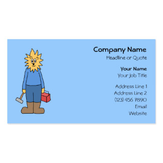 Construction Worker Lion. Pack Of Standard Business Cards