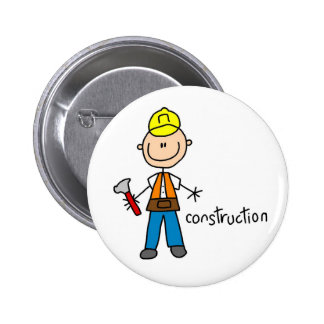 Construction Worker Magnet Button