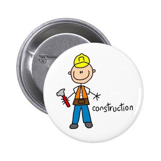 Construction Worker Magnet Button