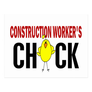 Construction Worker's  Chick Postcard
