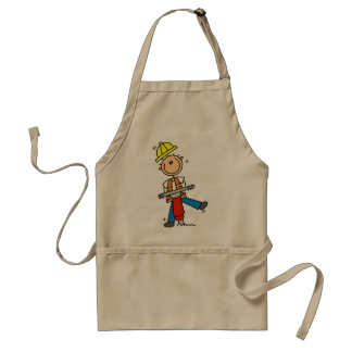 Construction Worker with Jack Hammer Apron