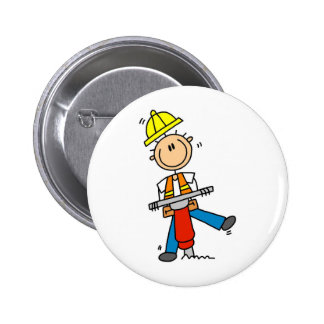 Construction Worker with Jack Hammer Button