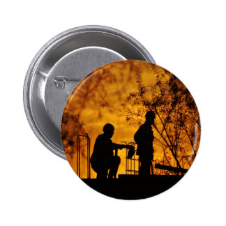 Construction Workers 6 Cm Round Badge