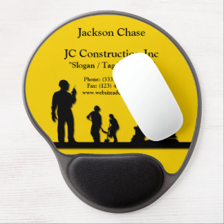 Construction Workers Equipment Gel Mouse Pad