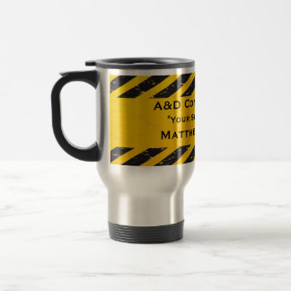 Construction Yellow and Black Mugs