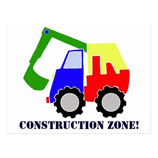 Construction Zone Postcards