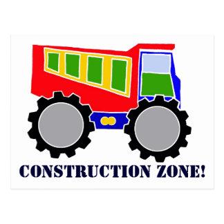 Construction Zone Postcard
