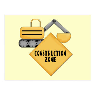 Construction Zone Tshirts and Gifts Postcard