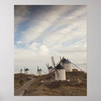 Consuegra, antique La Mancha windmills Poster