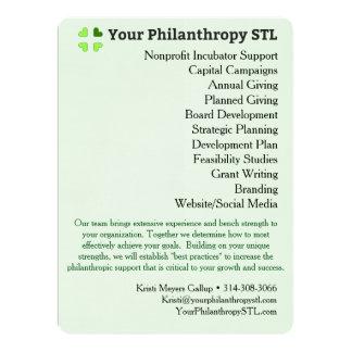 Consultant Brochure 4 17 Cm X 22 Cm Invitation Card