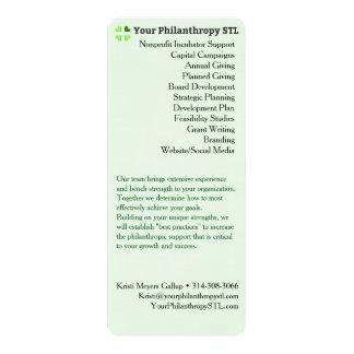 Consultant Brochure Skinny 10 Cm X 24 Cm Invitation Card