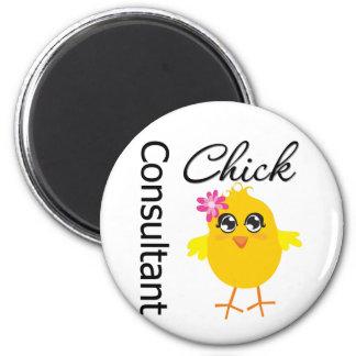 Consultant Chick Fridge Magnet