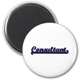 Consultant Classic Job Design 6 Cm Round Magnet