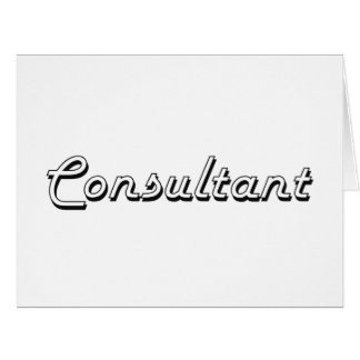Consultant Classic Job Design Large Greeting Card