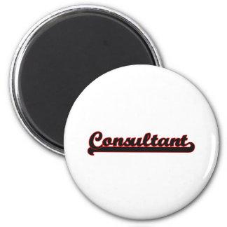 Consultant Classic Job Design 2 Inch Round Magnet