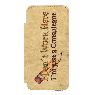 Consultant Office Humor Incipio Watson™ iPhone 5 Wallet Case