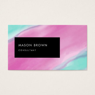 Consultant Profi Modern Abstract Watercolor Business Card