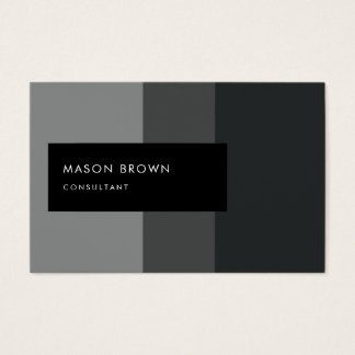 Consultant Profi Modern Gray Gradient Pattern Business Card