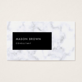 Consultant Profi Modern White Marble Business Card