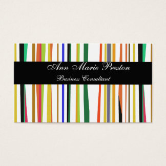 Consultant Unique Colorful Bold  Pattern Business Card