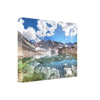 Consultation Lake 2 - Mt Whitney Trail Stretched Canvas Print