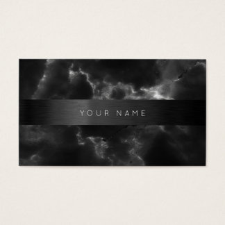 Consulting Black Gray Abstract Marble Vip Business Card