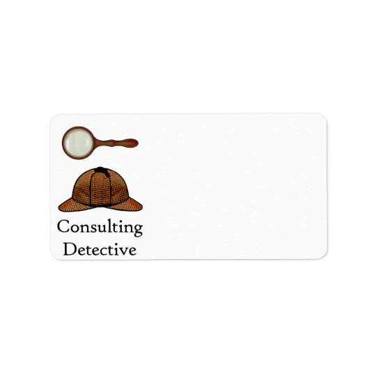 Consulting Detective Label