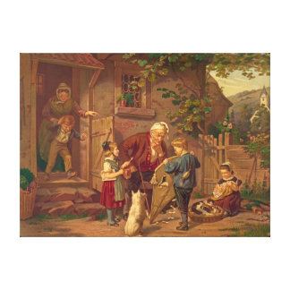 Consulting Grandfather 1871 Gallery Wrap Canvas