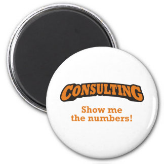 Consulting / Numbers Refrigerator Magnet