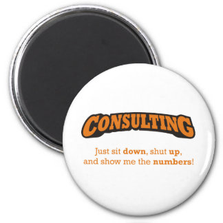 Consulting-Numbers Refrigerator Magnet