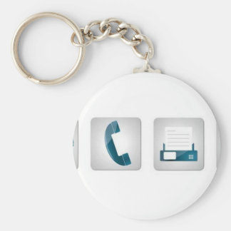 Contact icons key chain
