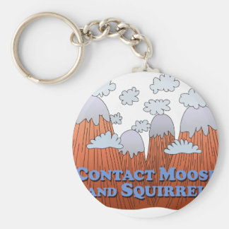 Contact Moose and Squirrel - Dark Key Chain