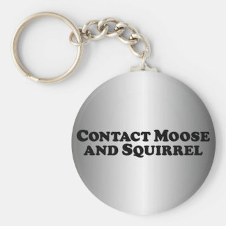 Contact Moose and Squirrel - Mixed Clothes Basic Round Button Key Ring