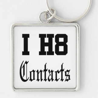 contacts Silver-Colored square key ring
