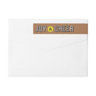 Contagious Cheer Joy Corporate Wrap Address Label Wraparound Return Address Label
