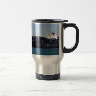 Container cargo ship 6 coffee mug