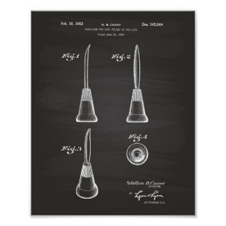 Container For Nail 1952 Patent Art Chalkboard Poster